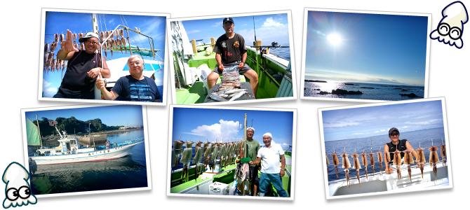 イカ釣り写真